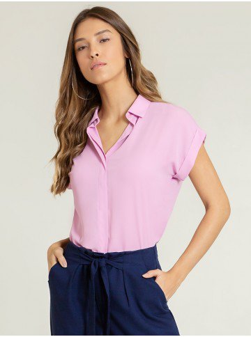 camisa ampla lilas aisha frente
