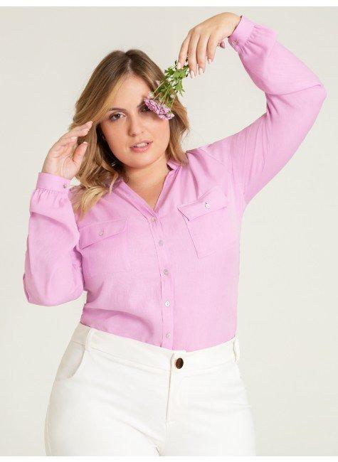 camisa lilas kezia plus frente