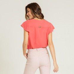 blusa coral decote v marnie modelagem