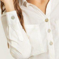 blusa ampla off white arven detalhes