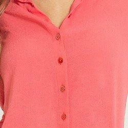 camisa social coral camelia aviamentos