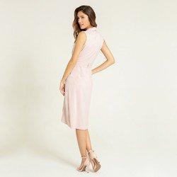 vestido nude transpassado malva modelagem