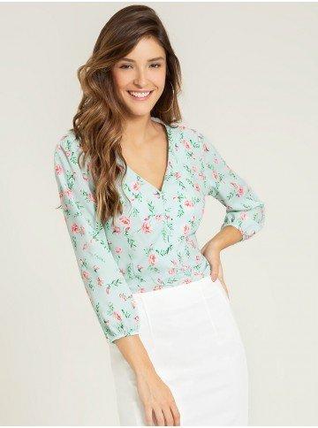 blusa verde floral adaline frente 1