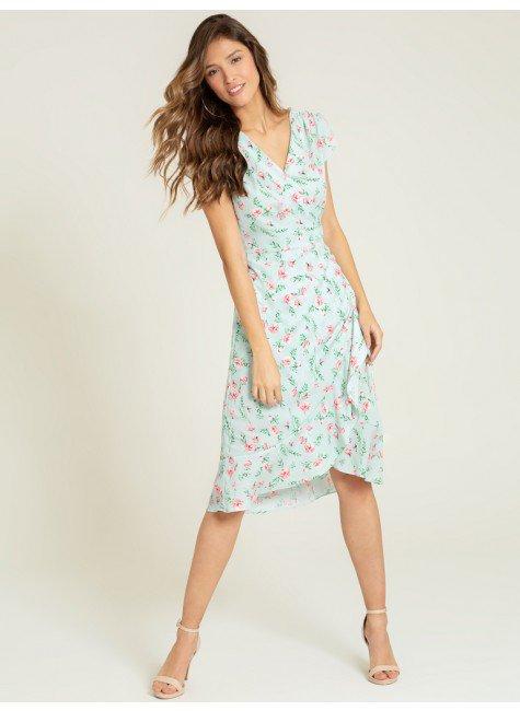 vestido floral transpassado julieta frente