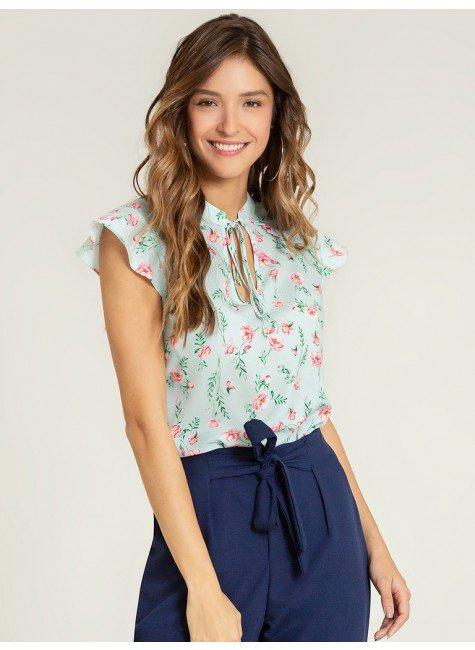 blusa menta floral annia frente1