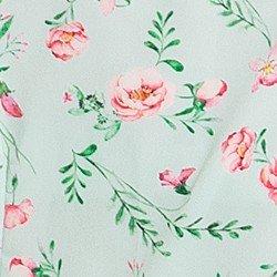vestido menta floral julieta tecido
