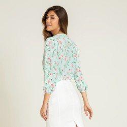 blusa menta floral adaline modelagem