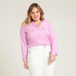 camisa lilas decote v kezia geral