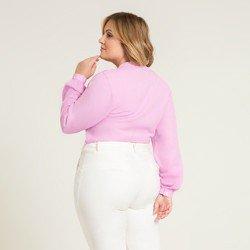 camisa lilas decote v kezia modelagem