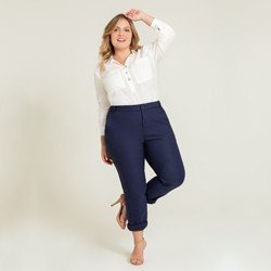 blusa ampla off white plus size arven geral