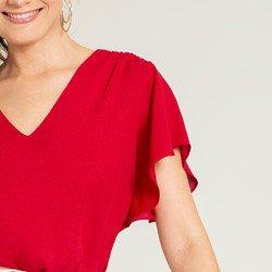 blusa feminina vermelha alberta manga gode