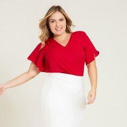 blusa plus vermelha alberta geral