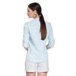 blusa jeans manga longa suzy modelagem
