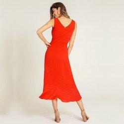 vestido laranja midi nadinne modelagem