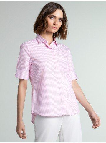 camisa listrada rosa mery social