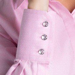 camisa maquinetada rosa geraldine botoes