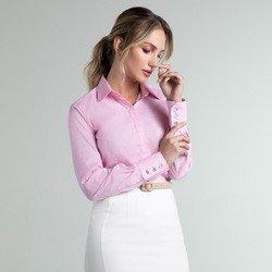 camisa maquinetada rosa geraldine geral