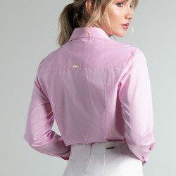 camisa maquinetada rosa geraldine modelagem