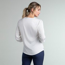 blusa de cetim off white jenny modelagem