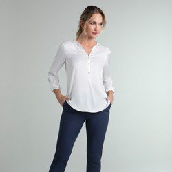 blusa de cetim off white jenny geral
