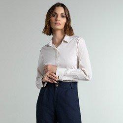 camisa bege com abotoadura lucy geral
