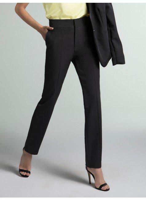 calca feminina reta preta reese frente