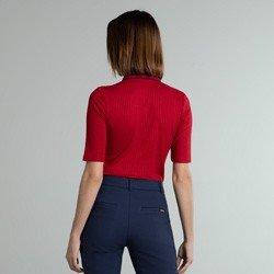 camisa polo vermelha marinho giselah modelagem
