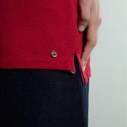 camisa polo piquet vermelho mirah aviamento