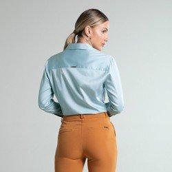 camisa social azul tessalia modelagem