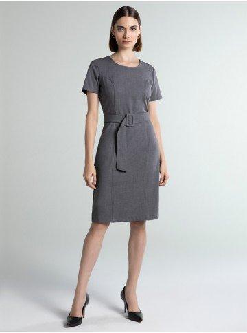 vestido cinza midi sammy frente