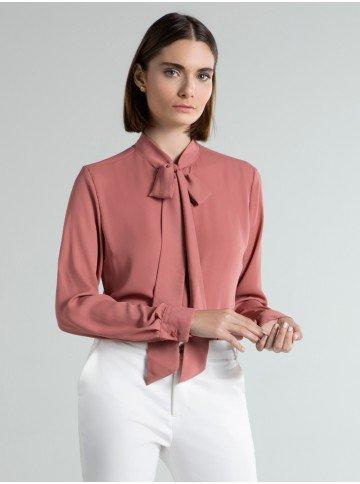 camisa social rose laco poppy frente