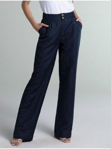 calca pantalona marinho audrey frente