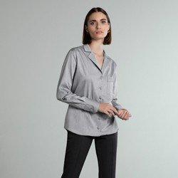 camisa listrada cinza bethany modelagem