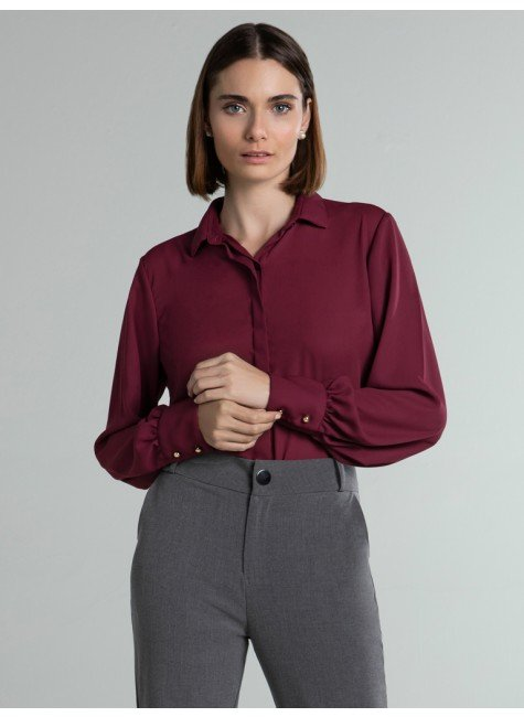 camisa feminina bordo adriella frente