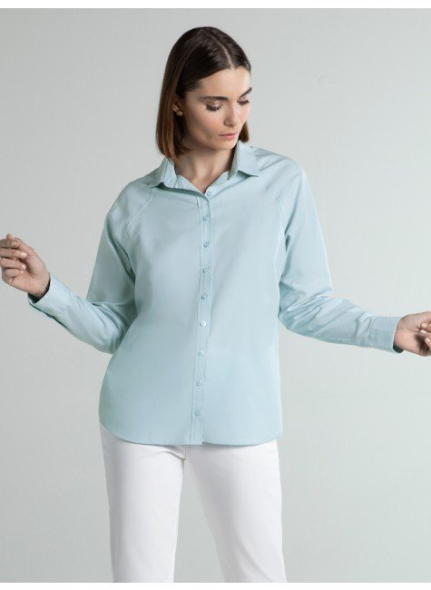camisa feminina azul ragla verena frente