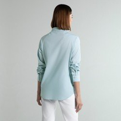 camisa social azul verena modelagem