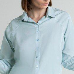 camisa social azul verena vista
