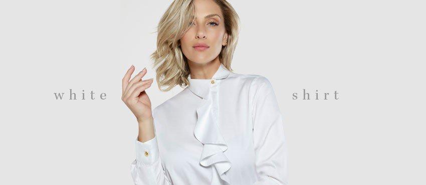 banner maneiras de  usar camisa branca principessa