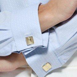 camisa abotoadura azul deborag abotoadura