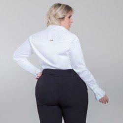 camisa branca com pregas camile modelagem