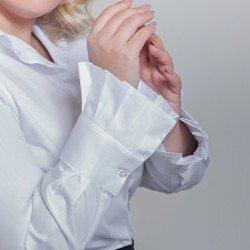 camisa branca com pregas camile punho