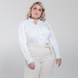 camisa plus size branca nancy geral