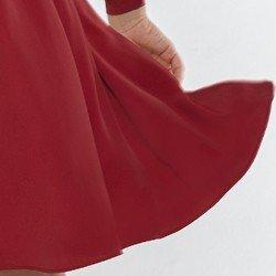 vestido transpassado vermelho nikki detalhe tecido