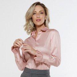 detalhe camisa prega punhos rose claudina