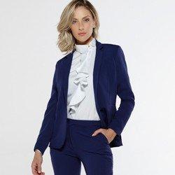 detalhe blazer feminino marinho goia modern