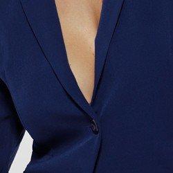 detalhe blazer feminino marinho goia tecido