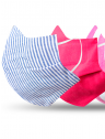 mascara tecido reutilizavel kit detalhe elastico