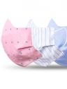 mascara tecido reutilizavel kit detalhe elastico sol