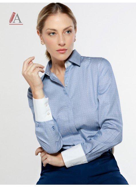 camisa azul de poa personalizada principessa harmony