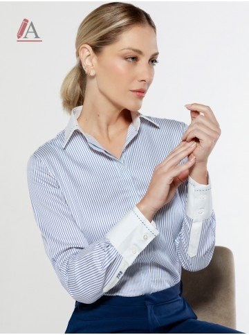 camisa listrada personalizada mayumi